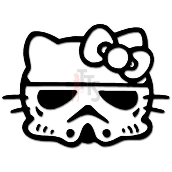 Hello Kitty Stormtrooper Inspired Decal Sticker Style 1