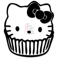 Hello Kitty Cupcake Inspired Decal Sticker