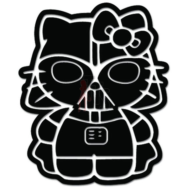 Hello Kitty Darth Vader Inspired Decal Sticker