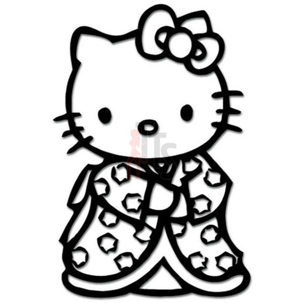 Hello Kitty Japanese Kimono Inspired Decal Sticker
