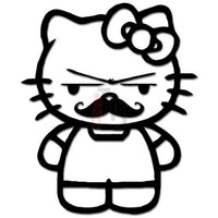 Hello Kitty Mustache Inspired Decal Sticker Style 1