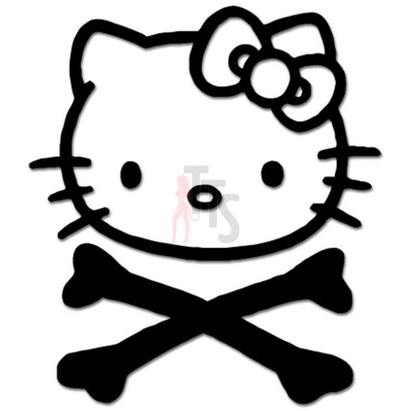 Hello Kitty Crossbones Inspired Decal Sticker