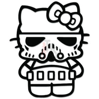 Hello Kitty Stormtrooper Inspired Decal Sticker Style 3