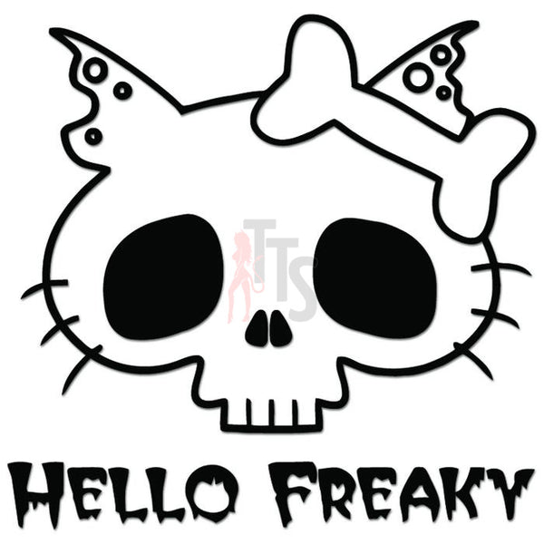 Hello Kitty Freaky Inspired Decal Sticker Style 1