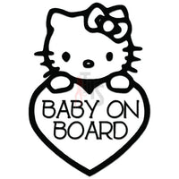 Hello Kitty Baby on Board Inspired Decal Sticker Style 2