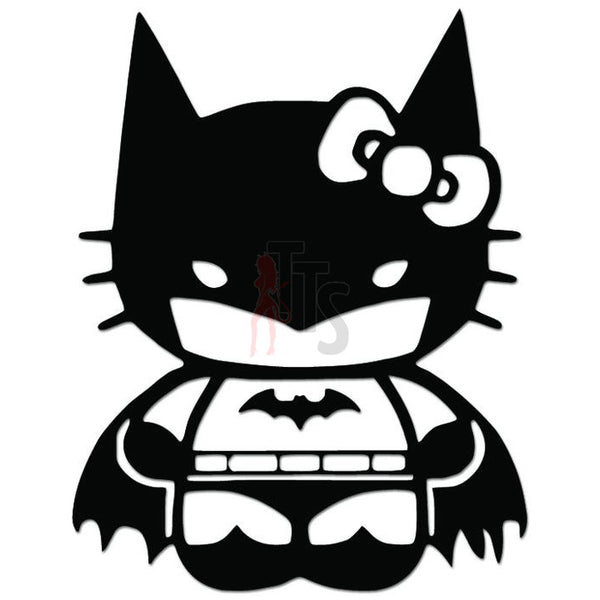 Hello Kitty Batman Inspired Decal Sticker Style 3