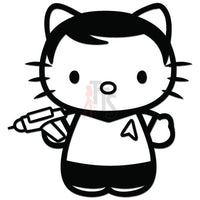 Hello Kitty Captain Kirk Inspired Decal Sticker