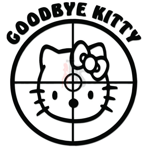 Hello Kitty Sniper Crosshairs Target Inspired Decal Sticker