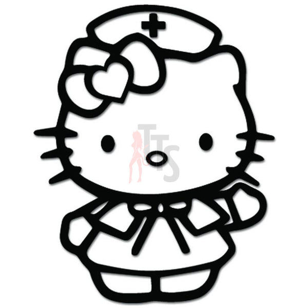 Hello Kitty Nurse Inspired Decal Sticker