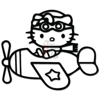 Hello Kitty Pilot Plane Inspired Decal Sticker