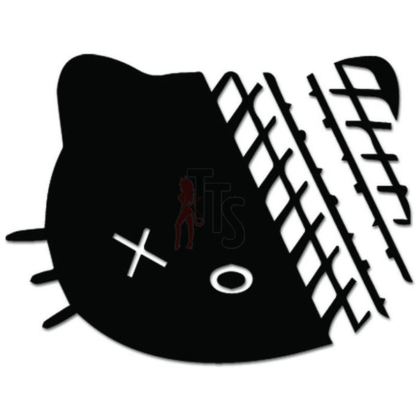Hello Kitty Road Kill Inspired Decal Sticker