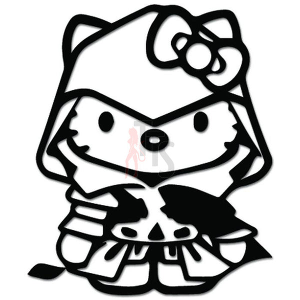 Hello Kitty Assassins Creed Inspired Decal Sticker