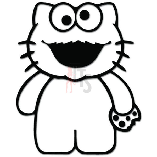 Hello Kitty Cookie Monster Inspired Decal Sticker