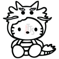 Hello Kitty Dragon Inspired Decal Sticker