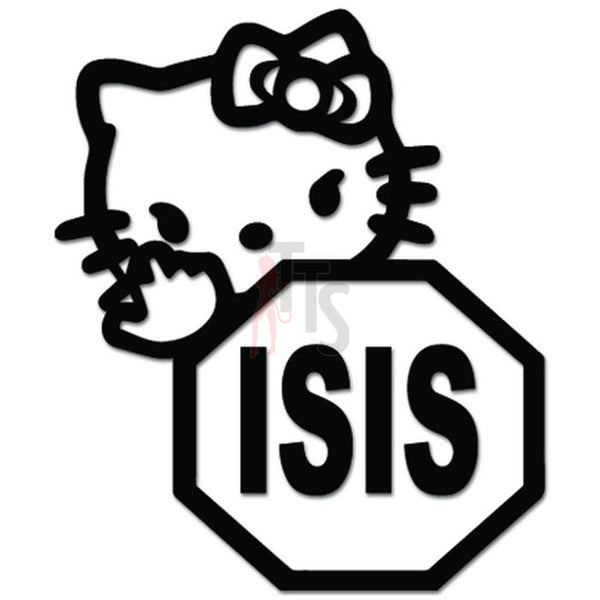 Hello Kitty Fuck ISIS Terrorist Inspired Decal Sticker