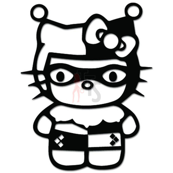 Hello Kitty Harley Quinn Inspired Decal Sticker