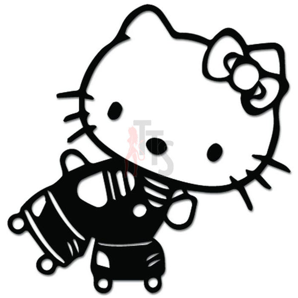 Hello Kitty Roller Skating Inspired Decal Sticker