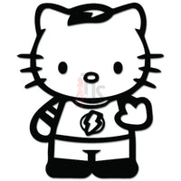 Hello Kitty Sheldon Cooper Big Bang Theory Inspired Decal Sticker