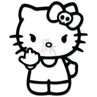 Hello Kitty Fuck You Middle Finger Inspired Decal Sticker