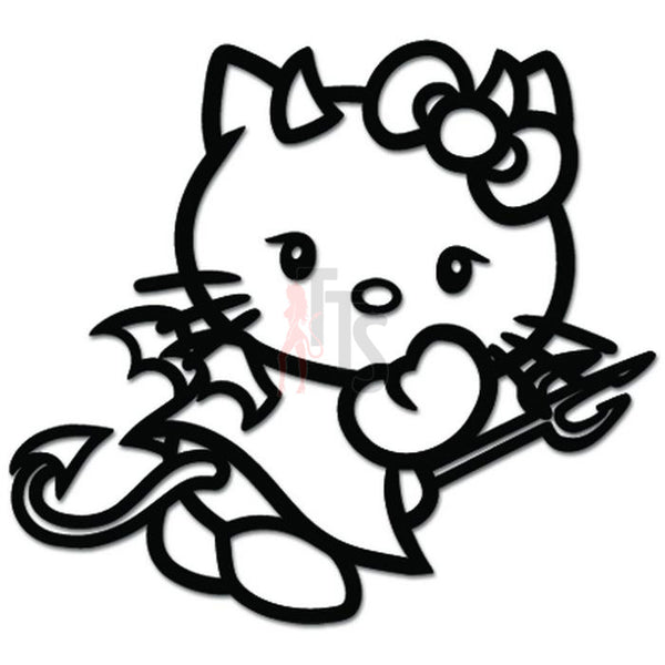 Hello Kitty Naughty Devil Inspired Decal Sticker