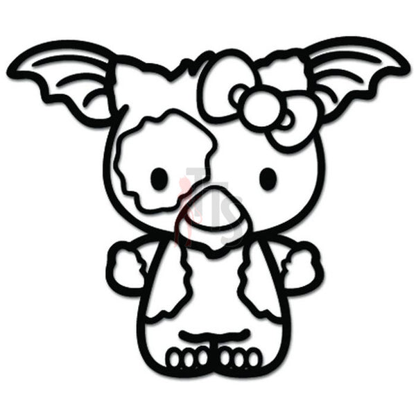Hello Kitty Gizmo Gremlins Inspired Decal Sticker