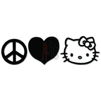 Hello Kitty Peace Love Happiness Inspired Decal Sticker
