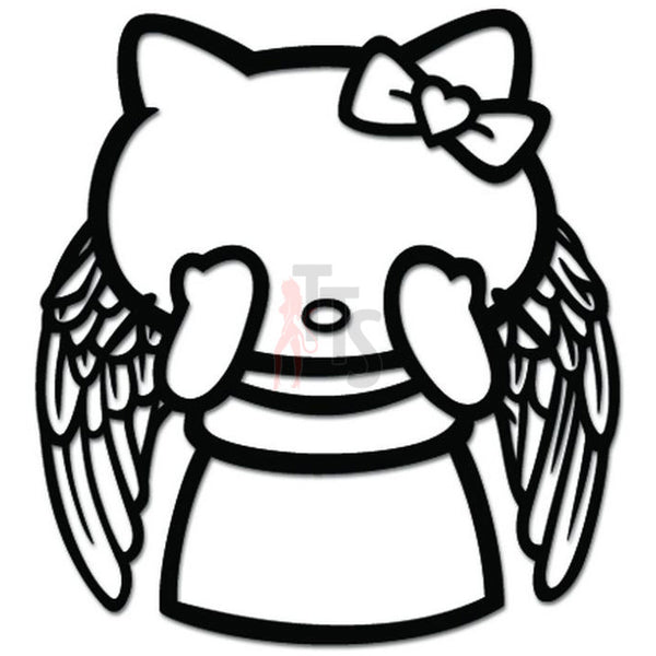 Hello Kitty Dr Who Weeping Angel Inspired Decal Sticker