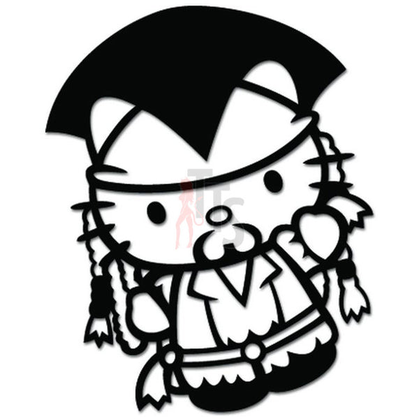 Hello Kitty Jack Sparrow Pirate Carribean Inspired Decal Sticker