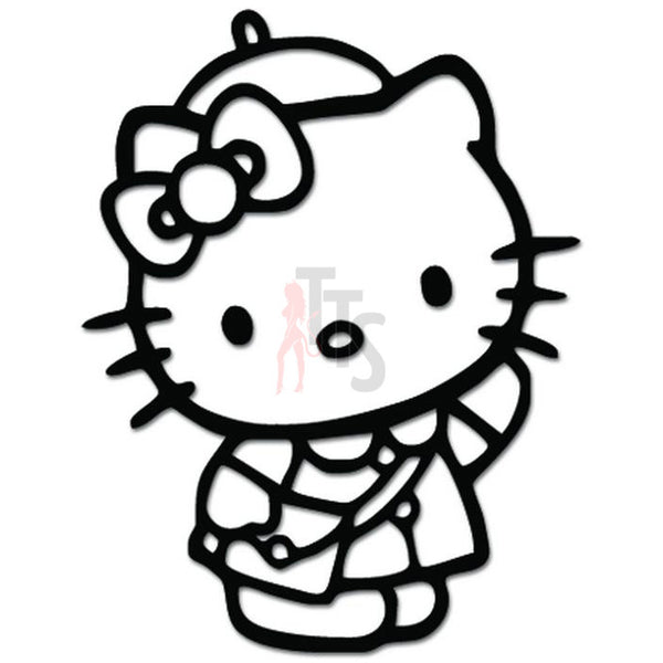 Hello Kitty Student School Inspired Decal Sticker