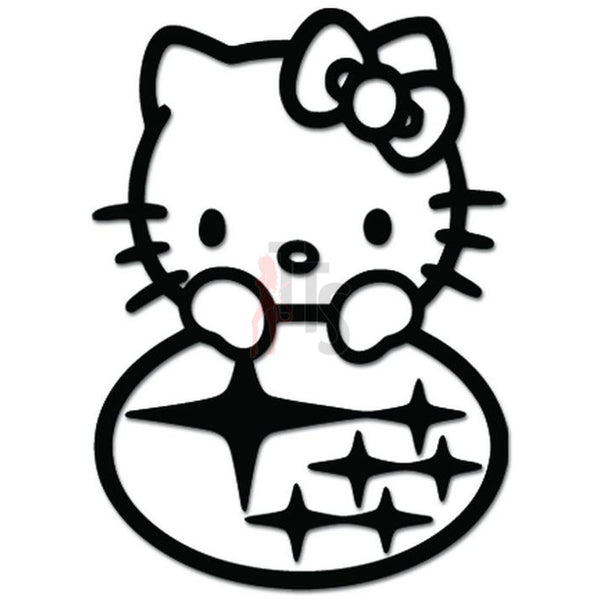 Hello Kitty Subaru World Rally Inspired Decal Sticker