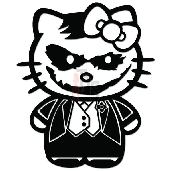 Hello Kitty The Joker Batman Inspired Decal Sticker