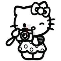 Hello Kitty Tourist Camera Inspired Decal Sticker