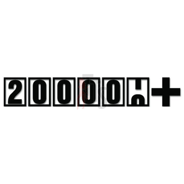 200,000 Plus Miles JDM Japanese Sticker - TipTopSIGNS