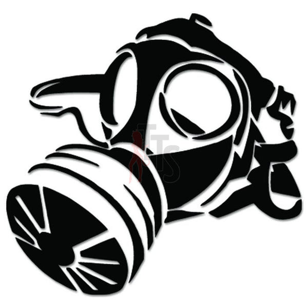 Military Gas Mask JDM Japanese Sticker - TipTopSIGNS