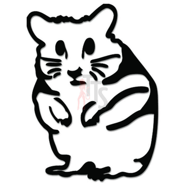 Hamster Rodent Funny JDM Japanese Sticker - TipTopSIGNS