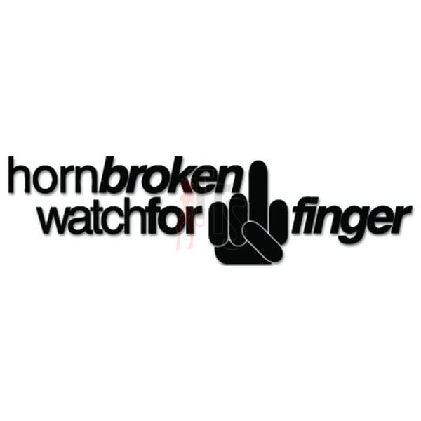Horn Broken Middle Finger JDM Japanese Sticker - TipTopSIGNS