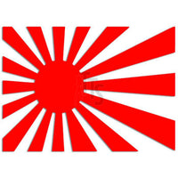 Japan Rising Sun Flag JDM Japanese Sticker - TipTopSIGNS