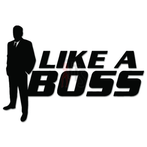 Like A Boss Suit JDM Japanese Sticker Style 1 - TipTopSIGNS