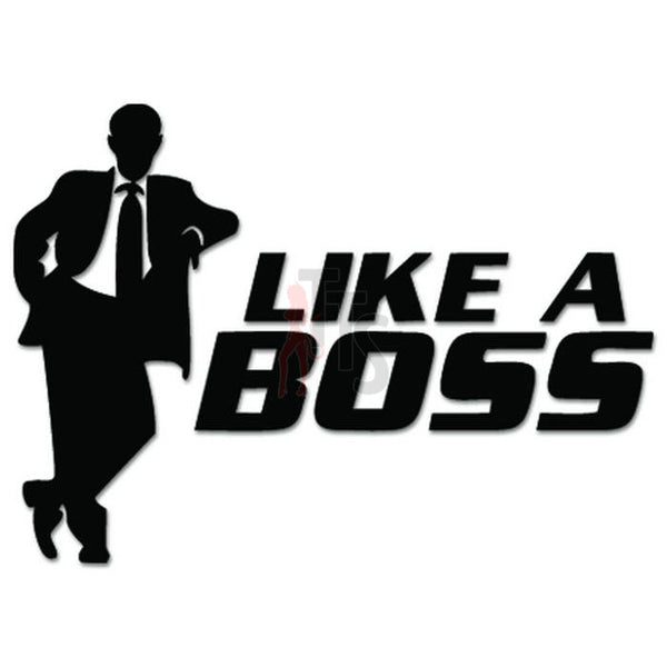 Like A Boss Suit JDM Japanese Sticker Style 2 - TipTopSIGNS