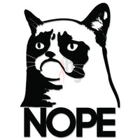 Nope Grumpy Cat Internet Meme JDM Japanese Sticker - TipTopSIGNS