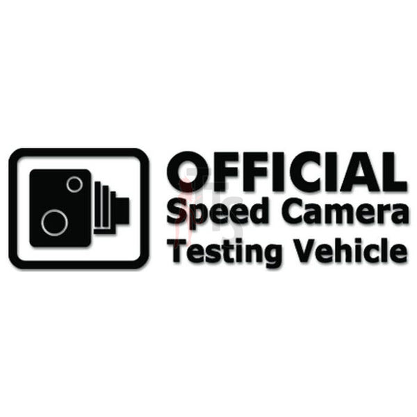 Official Speed Camera Testing Vehicle JDM Japanese Decal Sticker
