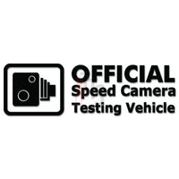 Official Speed Camera Testing Vehicle JDM Japanese Sticker - TipTopSIGNS