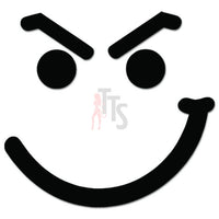 Smiley Smirk JDM Japanese Sticker - TipTopSIGNS