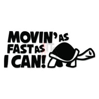 Turtle Moving Fast JDM Japanese Sticker