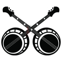 Banjo Guitar Music Decal Sticker