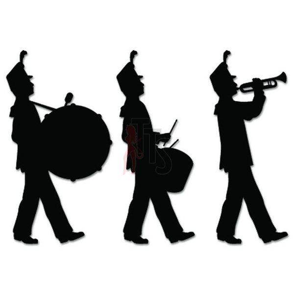 Marching Band Music Decal Sticker