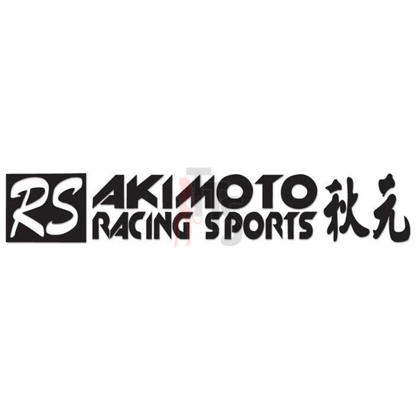 Akimoto Racing Sports Performance Racing Decal Sticker Style 2