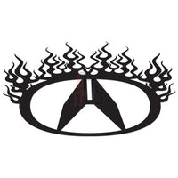 Honda Acura Flame Performance Racing Decal Sticker