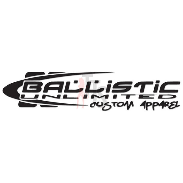 Ballistic Unlimited Apparel Performance Racing Decal Sticker