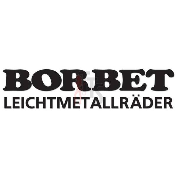 Borbet Performance Racing Decal Sticker Style 2